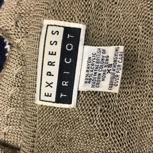 Vintage Sweaters - Vintage Express Tricot Light Olive Green Sweater